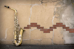 Jazz Saxophone Grunge imagens de stock royalty free