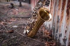 Jazz Saxophone Grunge stockbild