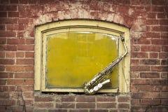 Jazz Saxophone Grunge Stock Image