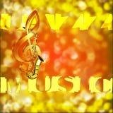 Jazz Saxophone Music y clave de sol en un fondo borroso Fotos de archivo libres de regalías