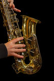 Jazz Saxophone Player Royalty Free Stock Photos
