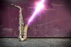 Jazz Saxophone Sound Wave Imagenes de archivo