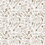 Jazz - seamless background Stock Image