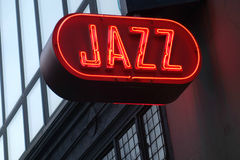 Jazz Sign on the side of a building