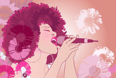 Jazz singer Royalty Free Stock Images