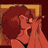 Jazz singer. Vector illustration of a jazz singer Royalty Free Stock Photos