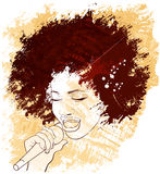 Jazz singer Stock Photography