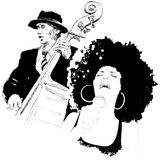 Jazz singer Royalty Free Stock Photos