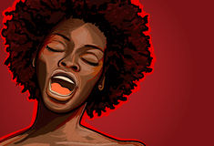 Jazz singer. Vector illustration of an afro american jazz singer royalty free illustration