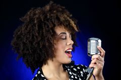 Jazz singer Stock Images