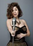 Jazz Singer atractiva fotografía de archivo libre de regalías