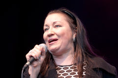 Jazz singer Holly Cole royalty free stock photography