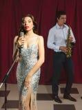 Jazz singer in retro style Royalty Free Stock Image