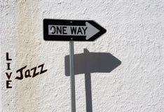 Jazz sous tension de cette façon Images stock