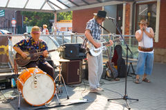 Jazz in the streets. Festival at rail station in Frydek, Silesia, Czech Republic. Admission is free Stock Images