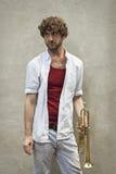 Jazz trąbka Fotografia Royalty Free
