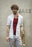 Jazz trąbka Zdjęcia Stock