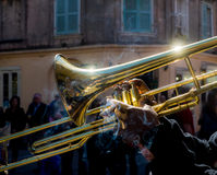 Jazz Trombone Fotografia de Stock Royalty Free