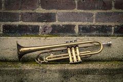 Jazz Trumpet Club royalty-vrije stock foto
