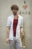 Jazz Trumpet Stock Photography
