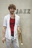 Jazz Trumpet Stock Photo