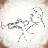 Jazz trumpet player royalty free illustration
