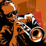 Jazz trumpet player Stock Images