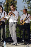 Jazz trumpeter royalty free stock photos
