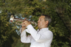 Jazz trumpeter Stock Photography