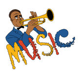 Jazz trumpeter Στοκ φωτογραφίες με δικαίωμα ελεύθερης χρήσης