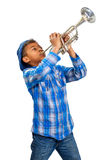 Jazz trumpeter. Stock Photos