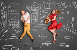 Jazz for two. Stock Image