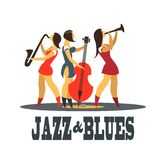 Jazz und Blau Stockfotos