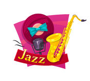 Jazz vector illustration Stock Images