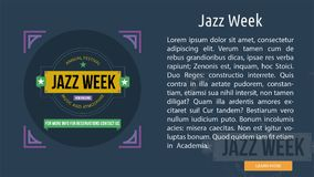 Jazz Week Conceptual Banner Photographie stock libre de droits