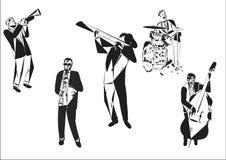 Jazzabstrakt begrepp Royaltyfri Bild