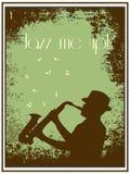 Jazzaffiche Royalty-vrije Stock Foto's