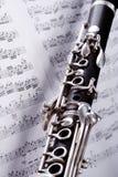 Jazzanmerkungen Stockbild