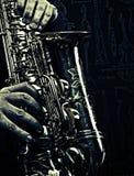 Jazzbakgrund Arkivfoton