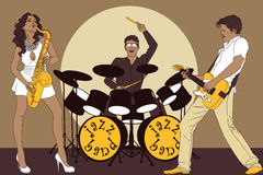 Jazzband Stockbild