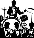 Jazzband Royaltyfri Fotografi