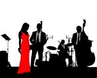 Jazzband två stock illustrationer