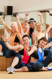 Jazzdance - young people dancing in studio Stock Image