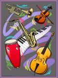 jazzes obraz royalty free
