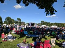JazzFest 2018. JazzFest in Sioux Falls, on a clear, comfortable day in Yankton Trail Park stock photo