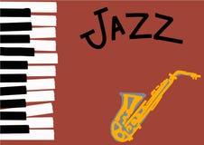 Jazzillustration med utrymme för text stock illustrationer