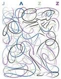 Jazzing per il Pollock royalty illustrazione gratis