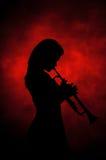 jazzlady royaltyfri foto