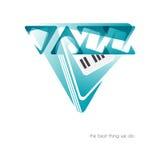 Jazzlogo stock illustrationer