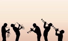 Jazzmässingsmusiker Arkivbild